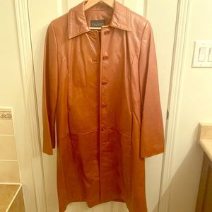 Danier Carmel trench leather jacket